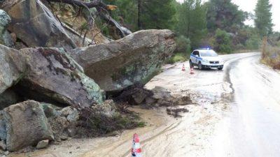 Κλειστοί δρόμοι σε Χαλκιδική και Ημαθία