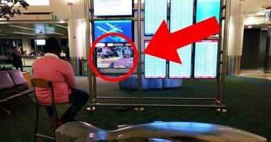 Άνδρας αποσύνδεσε οθόνη σε αεροδρόμιο για να παίξει PS4