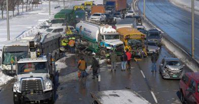 Καραμπόλα-γίγας 200 οχημάτων στον Καναδά! (vid)