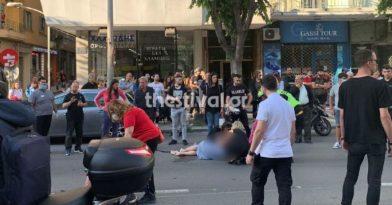 Θεσσαλονίκη: ΙΧ παρέσυρε μοτοσικλέτα με δύο αναβάτες