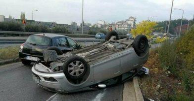Θεσσαλονίκη: Τροχαίο με εκτροπή 2 ΙΧ