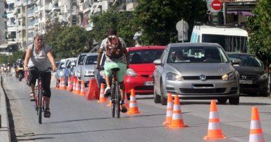 Θεσσαλονίκη: Άρχισαν οι εργασίες για ποδηλατόδρομο στη Λ. Νίκης