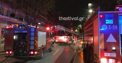Στις φλόγες δύο διπλοκατοικίες στη Θεσσαλονίκη