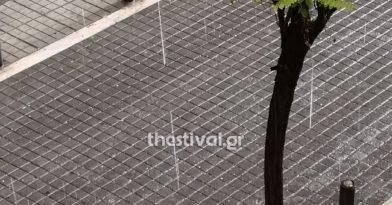 Βροχή το χαλάζι στη Θεσσαλονίκη!