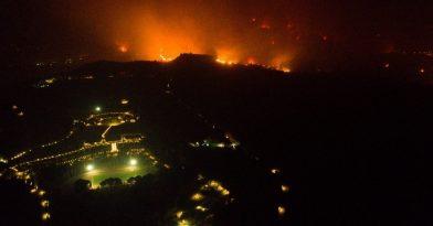Μάχη με τις φλόγες σε Αρχαία Ολυμπία, Βόρεια Εύβοια και Μεσσηνία